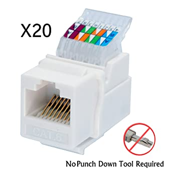 amazon com idc rj45 cat6 cat5e tool less no punch down tool rh amazon com Cat5 Keystone Plate wiring diagram rj45 keystone jack