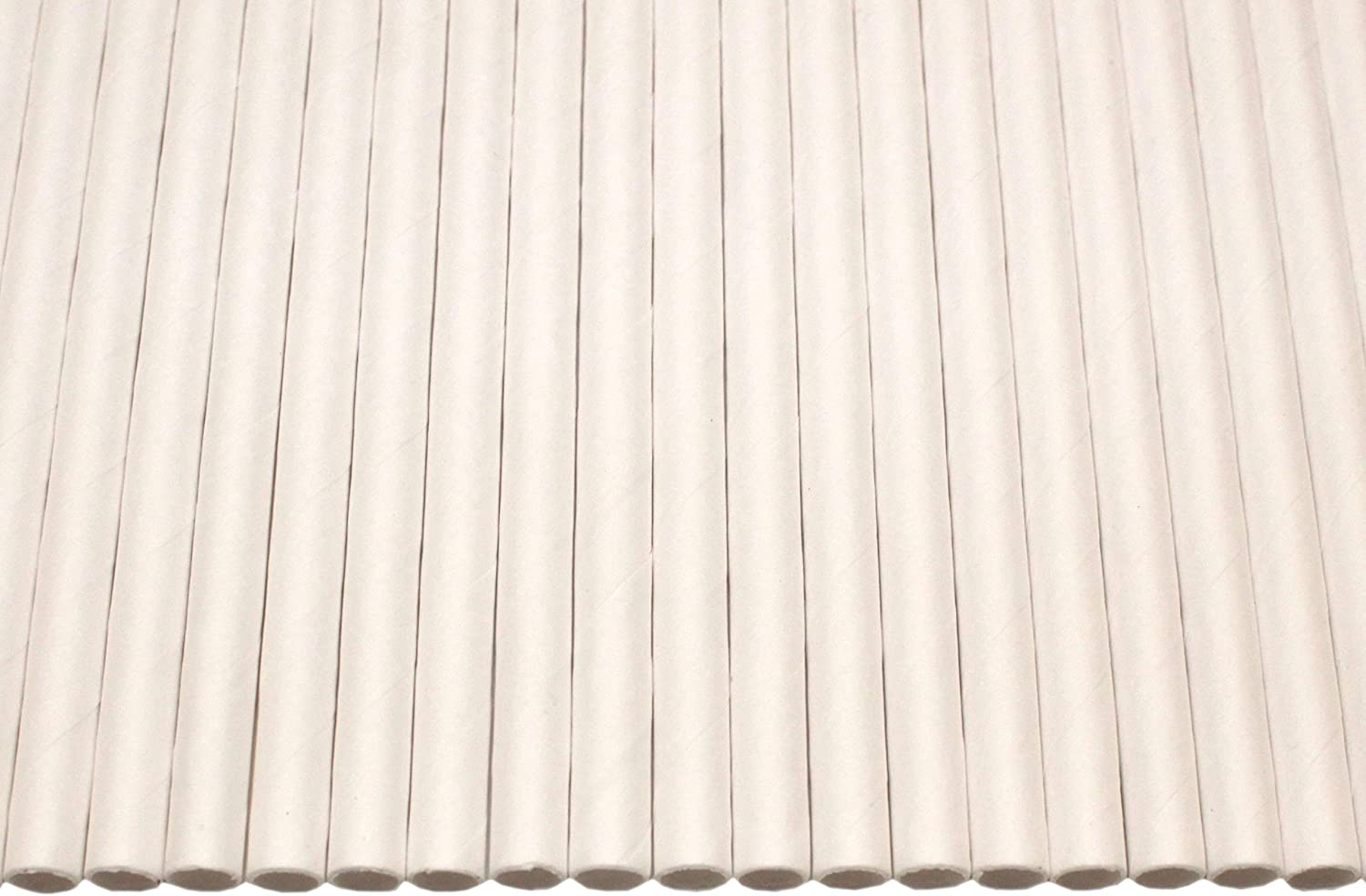 White Paper Straws Biodegradable//Eco-Friendly//Highly Durable//Food Safe//Suitable for All Occasions 6mm x 200mm - Pack Size 75