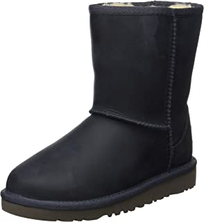 UGG Australia Unisex Kids' Classic Short Leather Ankle Boots
