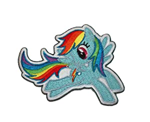 My Little Pony MLP Rainbow Dash Pegasus G4 Embroidered Iron On Applique Patch