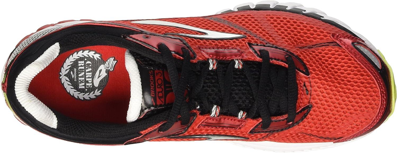 Brooks Aduro 3 M, Zapatillas de Running para Hombre, High Risk Red/Black/Nightlife, 45 1/2 EU: Amazon.es: Zapatos y complementos