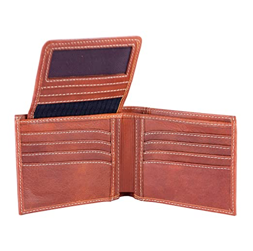 Velez Mens Genuine Columbian Leather Trifold Wallet | Billeteras de Cuero Hombre at Amazon Mens Clothing store: