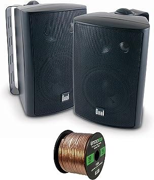 Dual Electronics LU43PB 3-Way High Performance Outdoor Indoor Speakers