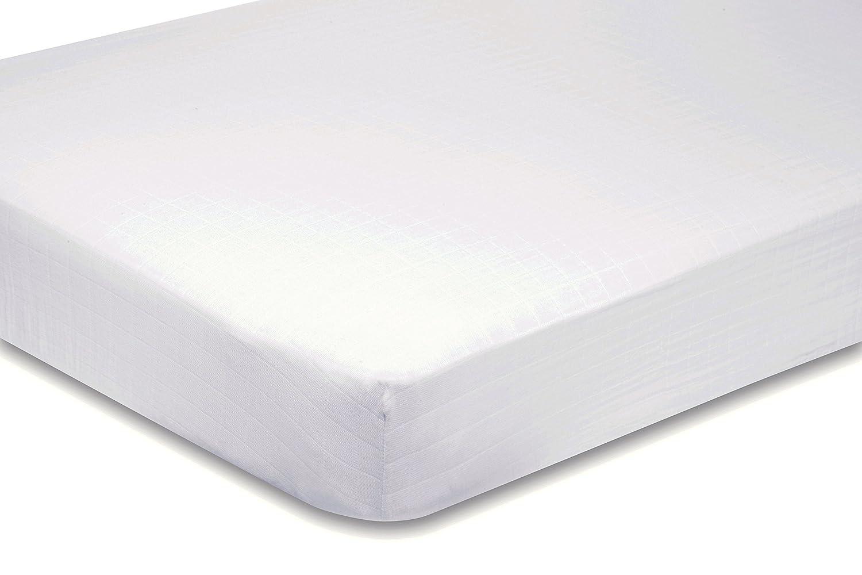 Draps de rechange pour prêt-à-dormir Uni blanc 130 x 200 cm coupe à gauche Narbonne Accessoires