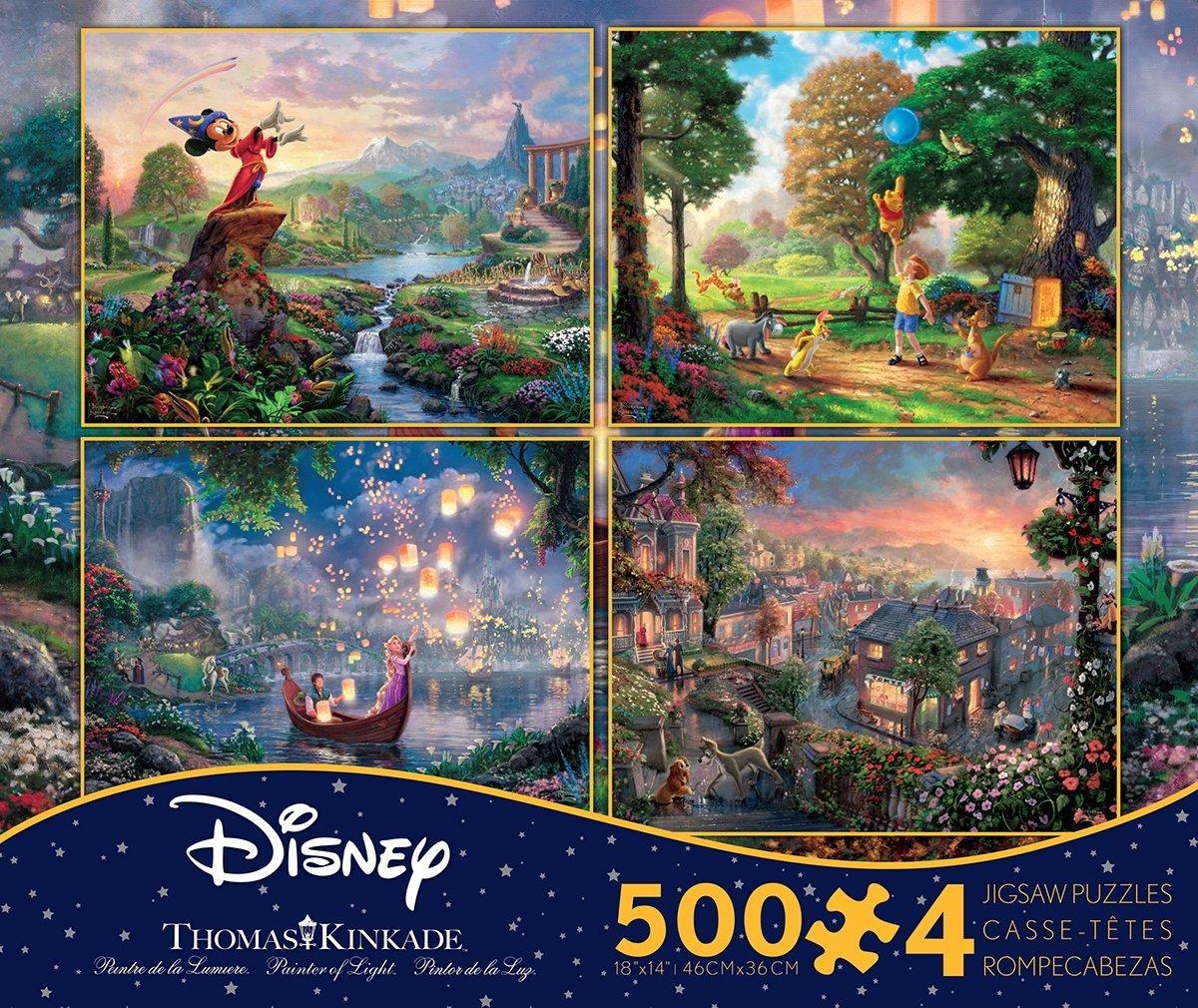 お手頃価格 Disney() 500×4  B00UXSDUYW Disney()【ミッキーマウス】【クマのプーさん】【塔の上のラプンェル】【わんわん物語】 作画 (並行輸入品) B00UXSDUYW, イーモノ:dd7c4565 --- a0267596.xsph.ru