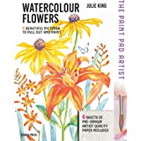 The Paint Pad Artist: Watercolour Flowers: 6 Beautiful Pictures to Pull out and Paint
