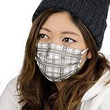 テックマスク タータンブラック 柄マスク 5枚入り (L)