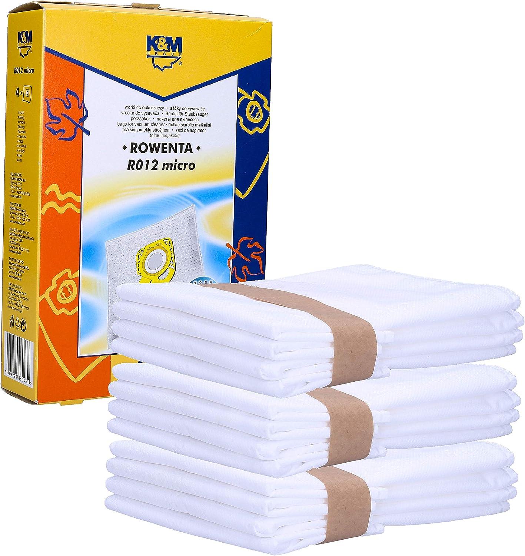 Wessper Bolsas para Aspiradora Rowenta Hygiene+ ZR200520 ZR200720, Compact Power, X-Trem Power und Silence Force, RO64xx, RO63xx, RO68xx, RO39xx (12): Amazon.es: Hogar