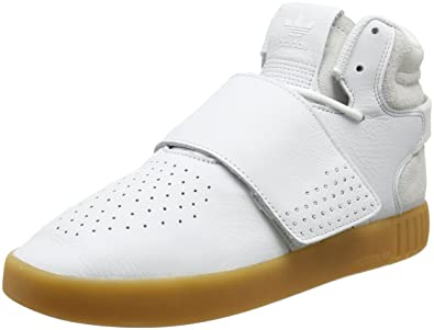 new arrival 611b7 000f0 adidas Tubular Invader Strap, Baskets Hautes Mixte Adulte, Blanc (Footwear  WhiteGum