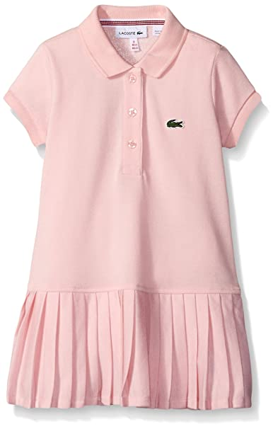 e566106e Lacoste Girls' Big Girls' Short Sleeve Pique Polo Dress with Pleated  Bottom, Isfahan Pink, 8A: Amazon.ca: Clothing & Accessories