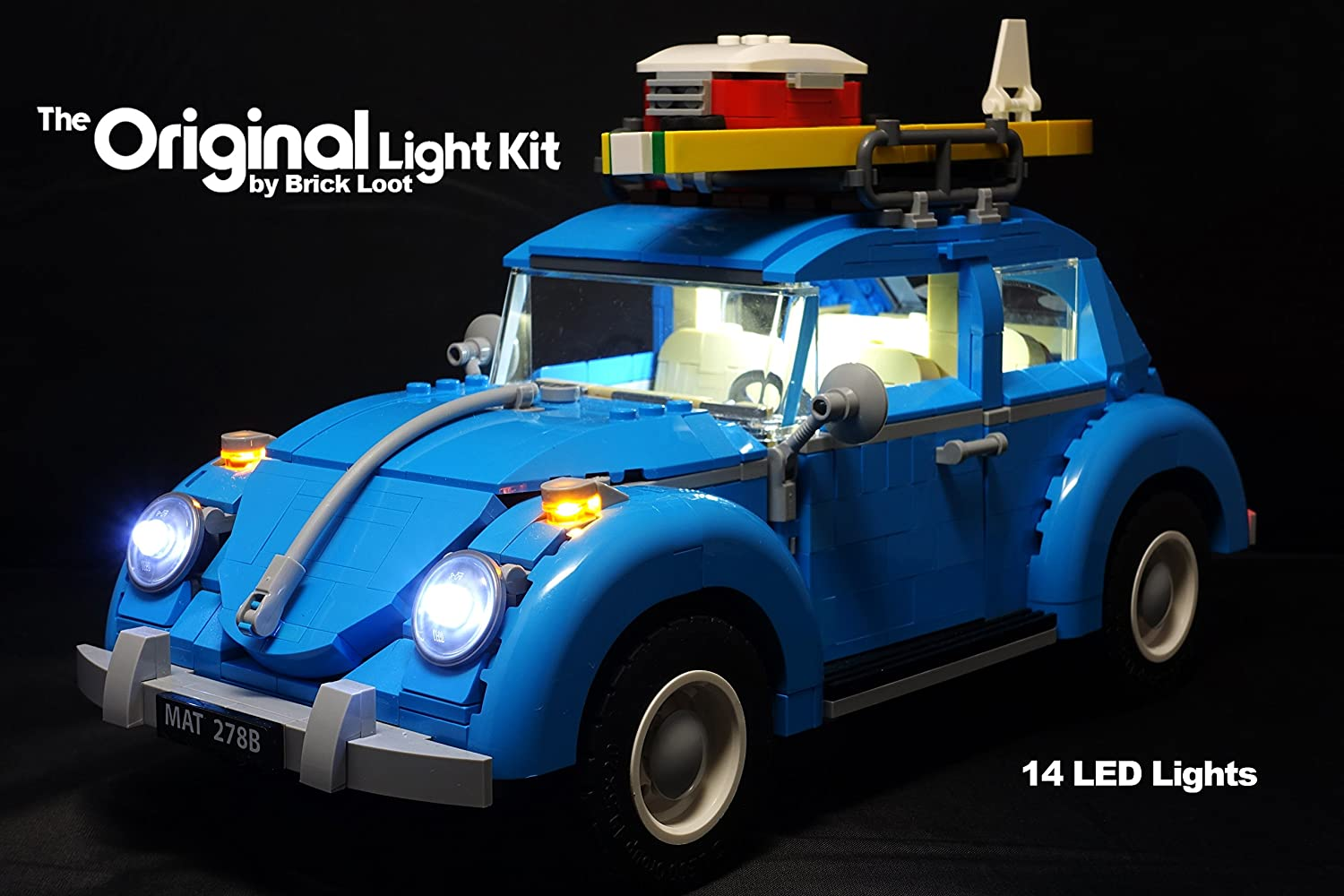 Brick Loot Light Kit for YOUR LEGO VW Beetle Lighting Kit for set 10252 by Brick Loot