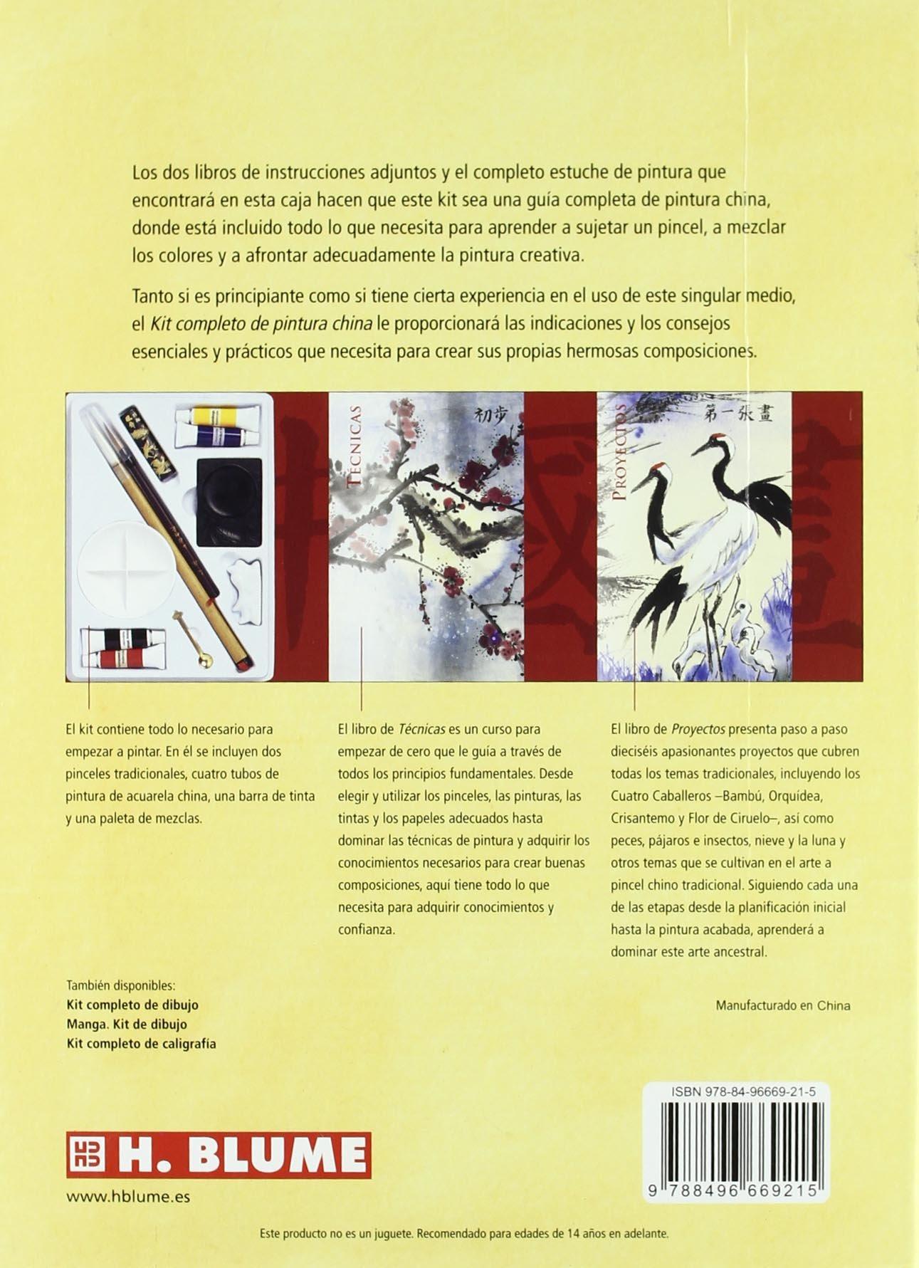 Kit completo de pintura china/ Complete Kit of Chinese Painting: Tecnicas, Herramientas Y Proyectos Para Dominar El Arte De La Caligrafia/ Skills, ...