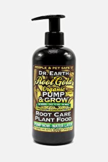 product image for Dr. Earth 1085 Pump & Grow Pure Gold All Purpose Plant Food 8 oz, Black