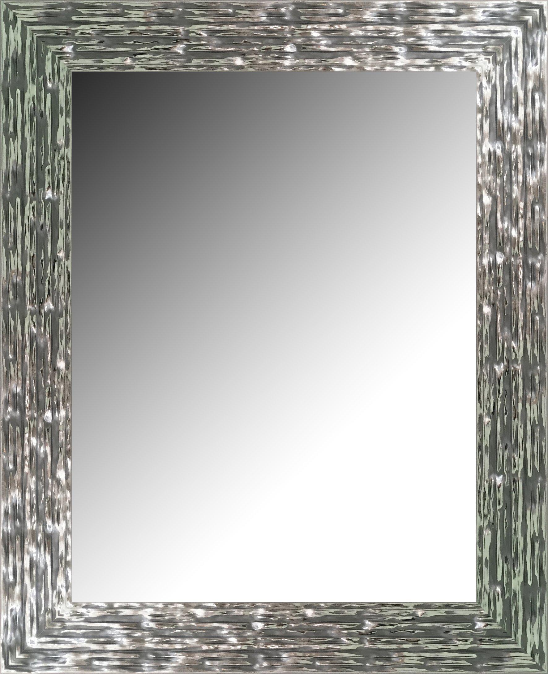 Canvases Levante da2000–6Mirror Decorative Bath/Receiver, 97x 76cm–Silver
