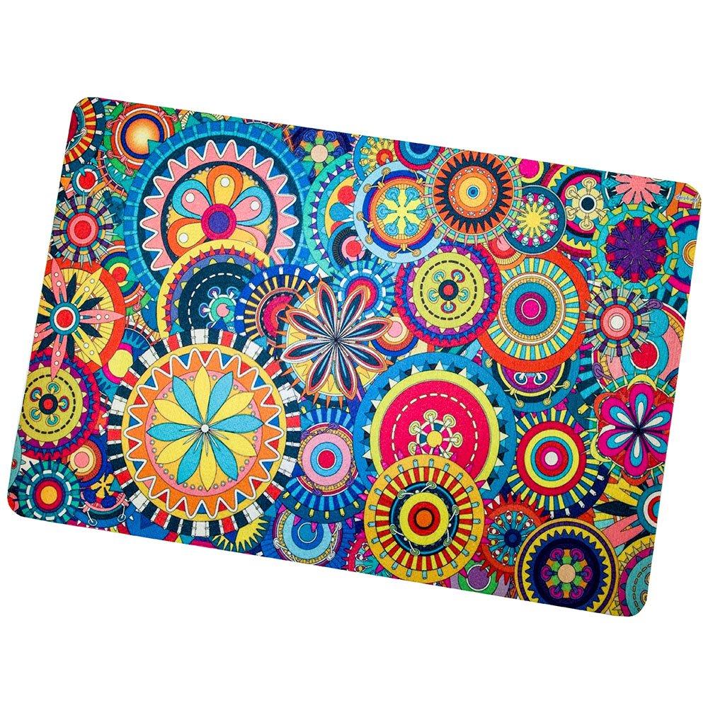 Colorful Bohemia Style Non Slip Doormats, Entrance Rug Lightweight Floor Mat Indoor Outdoor Mats Home Patio Decor 23.6'' x 15.7''