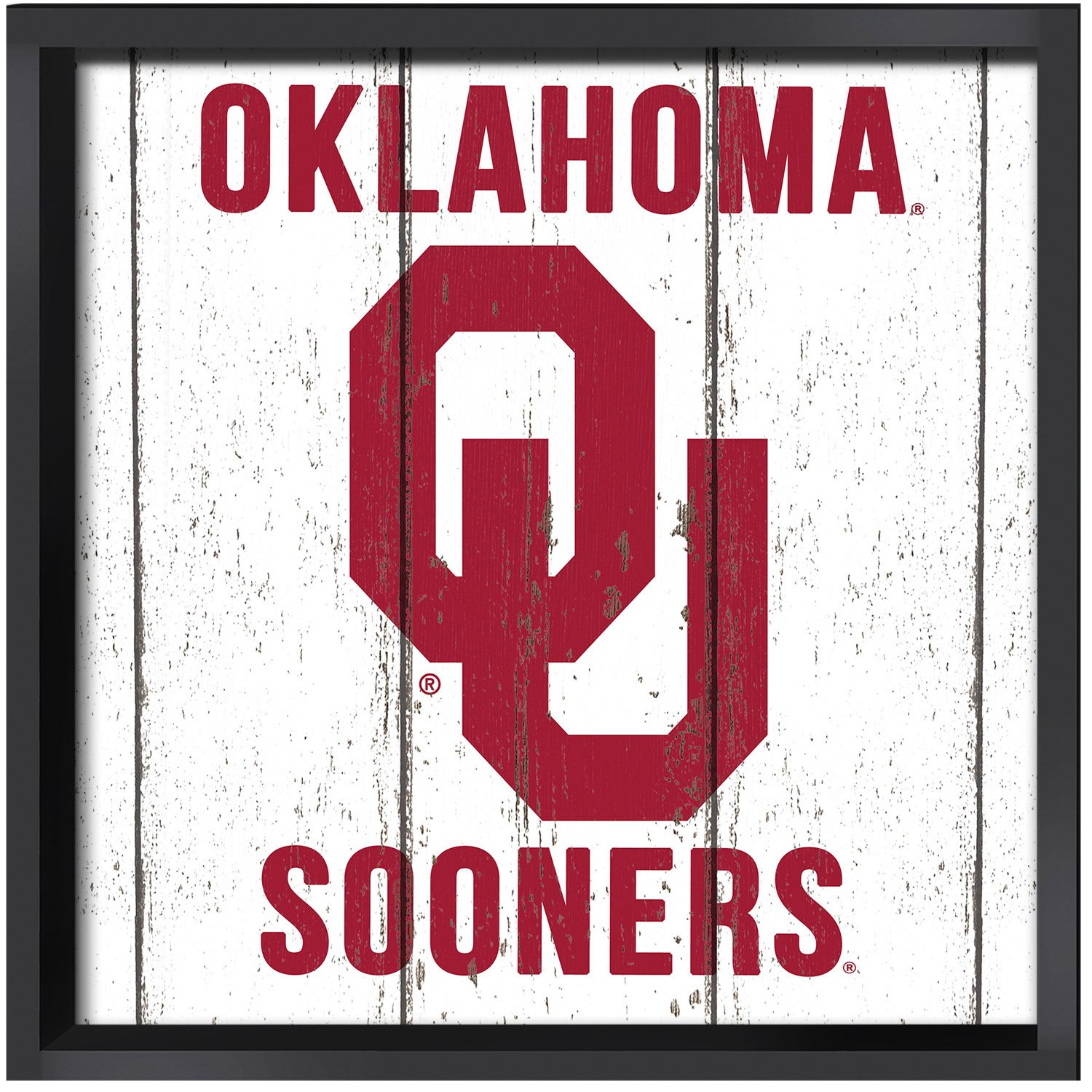 KH Sports Fan 16x16 Oklahoma Weathered Logo Collage Plaque