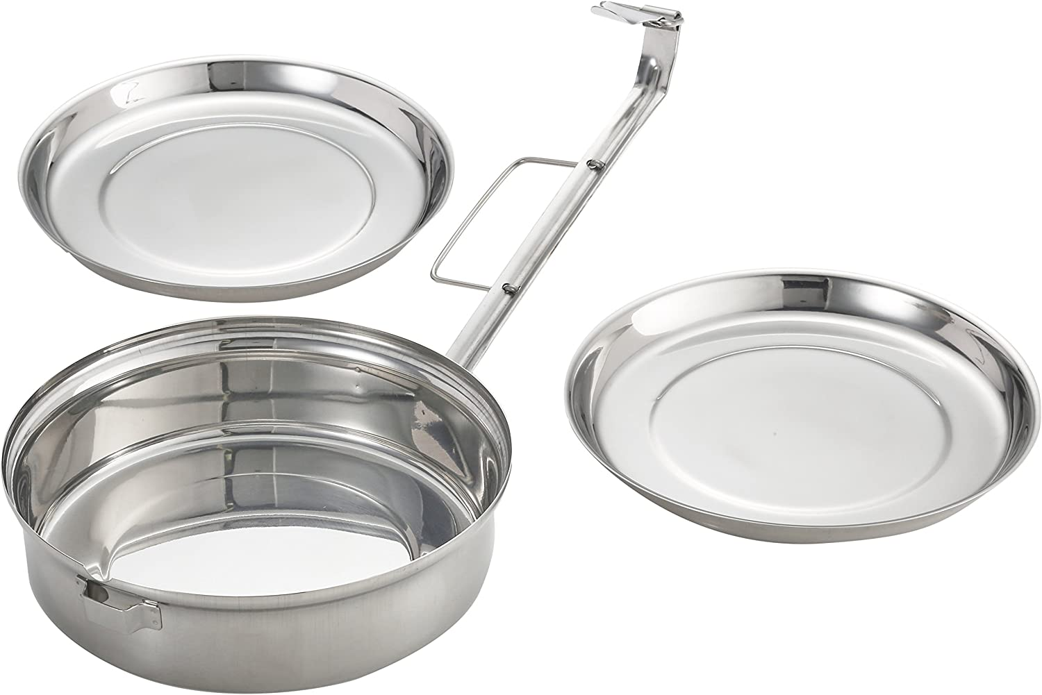 Silver IBILI Lunch Box with 2 Dishes 14 cm of Stainless Steel