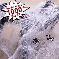 Double Couple Halloween Fake Spider Web Decorations Outdoor & Indoor Decor 1000sqft
