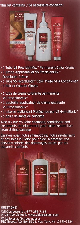 Vidal Sassoon Pro Series Ultra Vibrant Hair Color Kit 3vr London