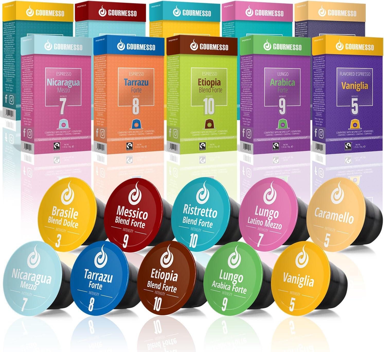 Gourmesso caja degustación – 100 cápsulas de café compatibles con ...