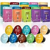 Gourmesso Testbox – 100 Nespresso kompatible Kaffeekapseln – 100% Fairtrade – 10 verschiedene Sorten in der praktischen Probierbox