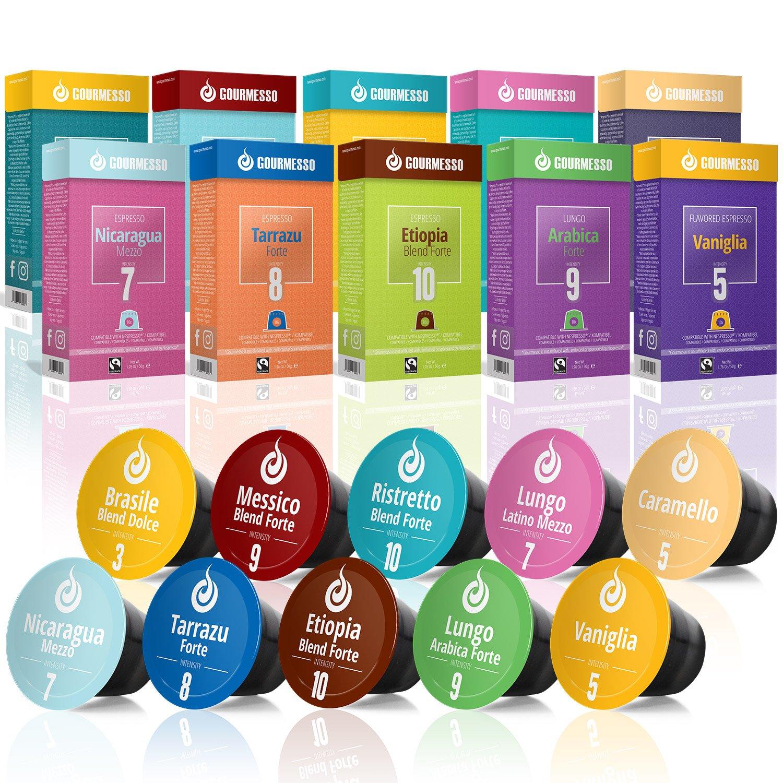 Gourmesso caja degustación - 100 cápsulas de café compatibles con ...