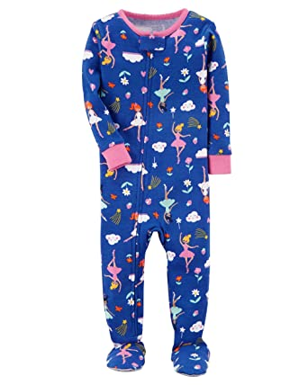 8f1fa596d973 Amazon.com  Carter s Baby Girls  1 Piece Cotton Sleepwear  Clothing