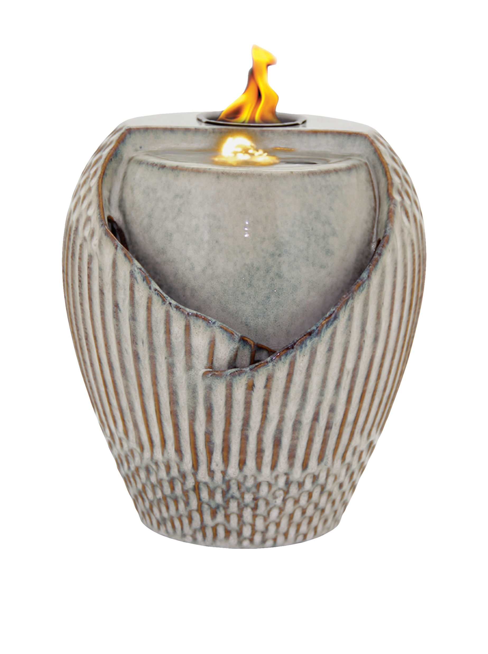 Pacific Decor Osaka LED Flame Fountain, 12-Inch, Sand by Pacific Décor
