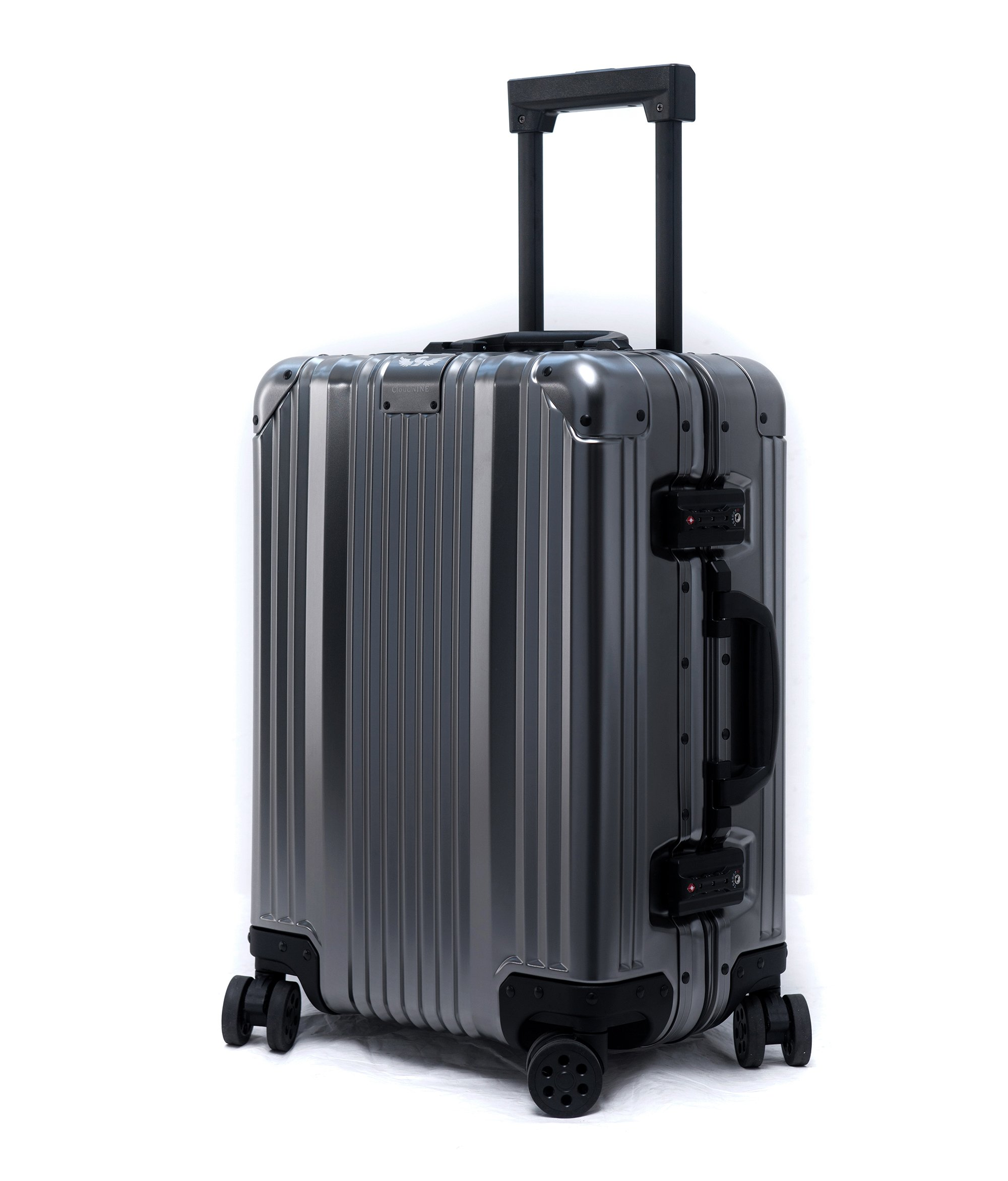 Cloud 9 - All Aluminum Luxury Hard Case Carry-On 20'' Durable with 360 Degree 4 Wheel Spinner TSA Approved (2017 Model)