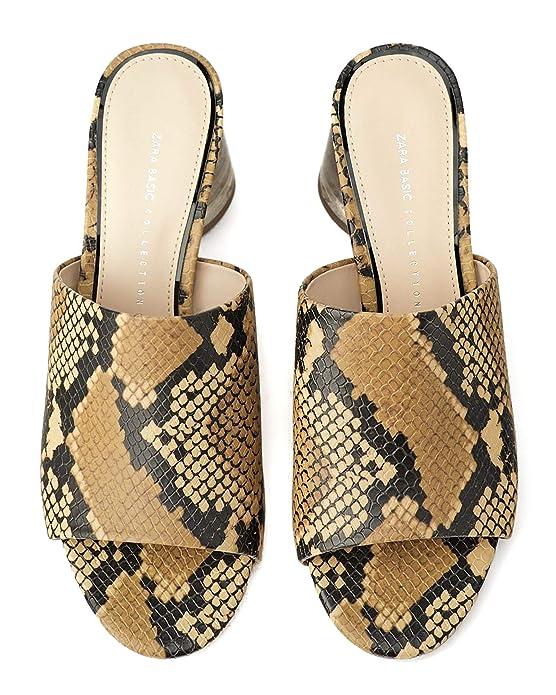 60bdedc4ebe2b Zara Women's Mules with methacrylate Heel 2310/001: Amazon.co.uk ...