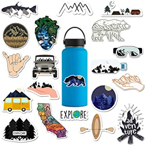 RipDesigns - 20 Outdoors Stickers for Water Bottles, Laptops (Series 3)