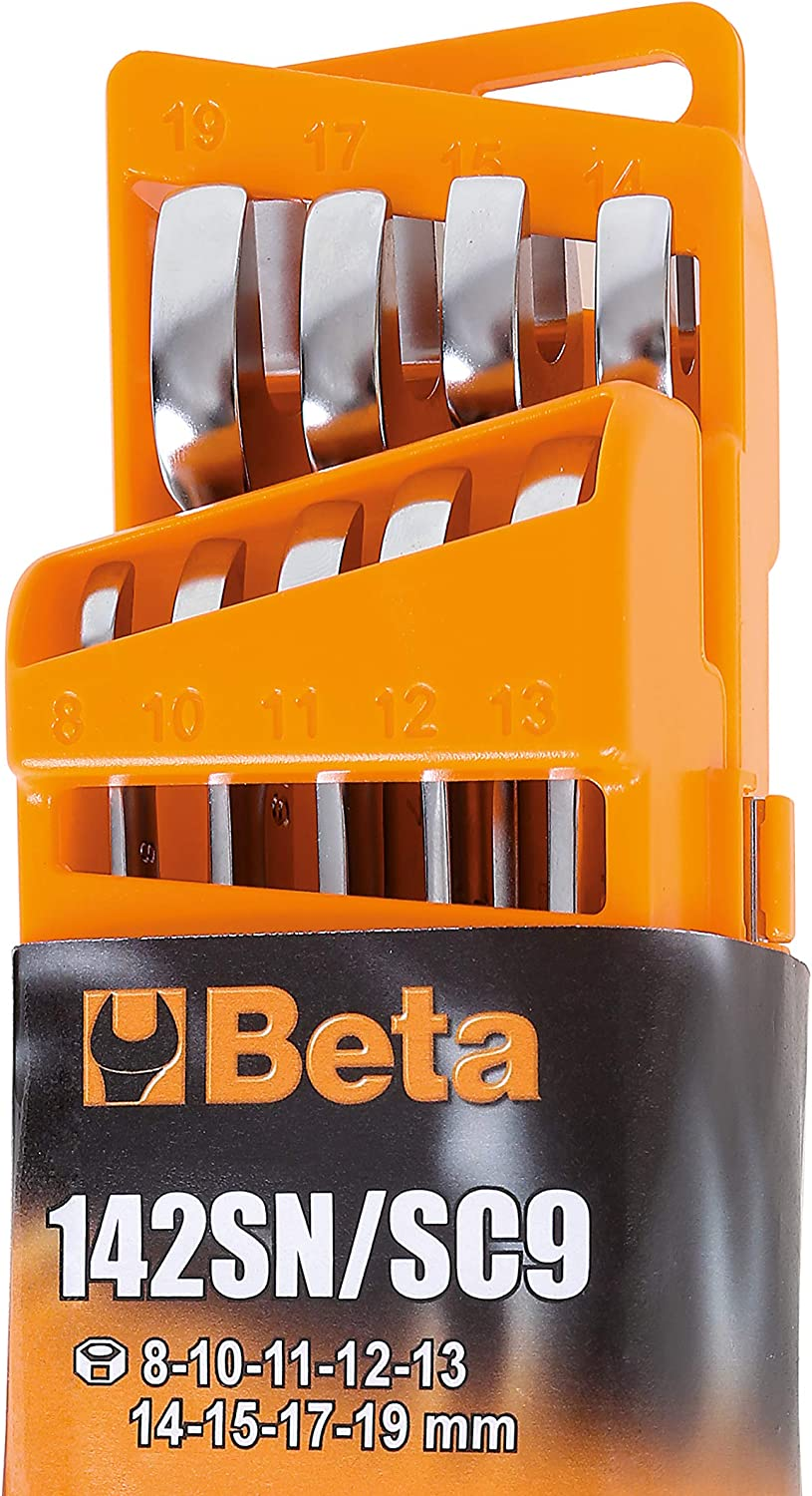Beta 142SN//SC9 9 Piece Ratchet Combination Spanner Set with Compact Holder