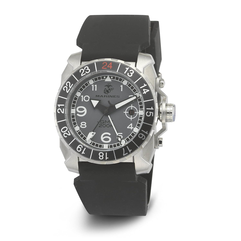 USMC Wrist Armor 37WA013701A Herren Silikon Armband Military Uhr grau schwarz