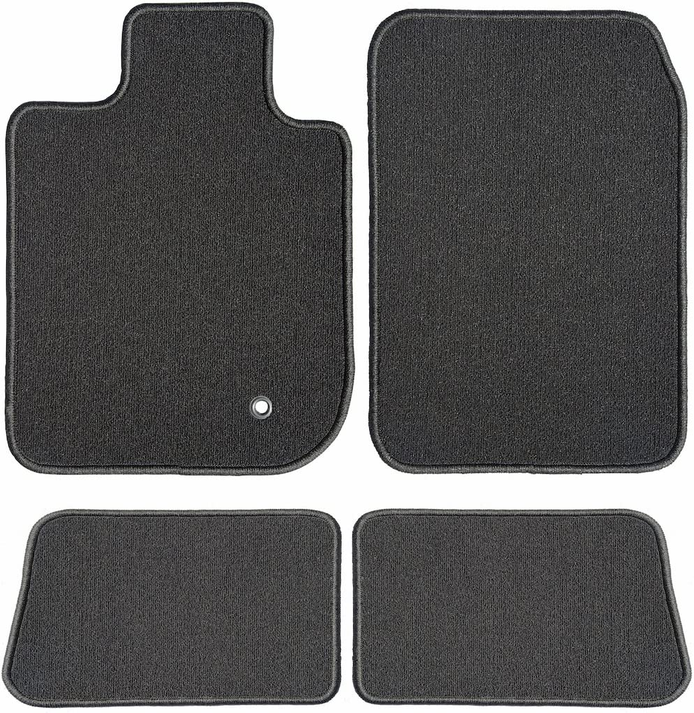 Vw Touareg 2009-2010 Clips Black Tailored Floor Car Mats Carpet //Rubber