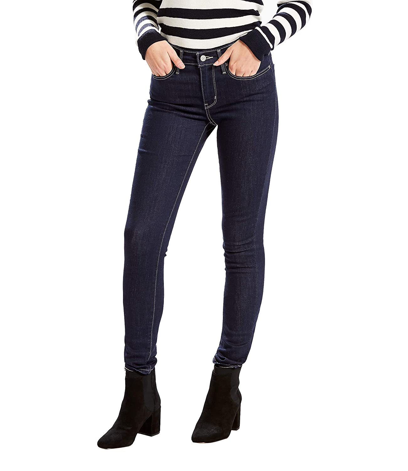 2ac10612f728a7 Levi's Women's Slimming Skinny Jean, Scenic Drive (89% Cotton, 9%  Polyester, 2% Elastane), 34Wx30L: Amazon.co.uk: Clothing
