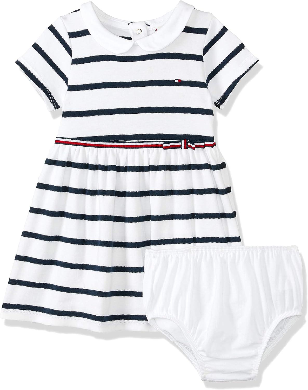 Tommy Hilfiger Baby-M/ädchen Rugby Stripe Dress S//S Kleid