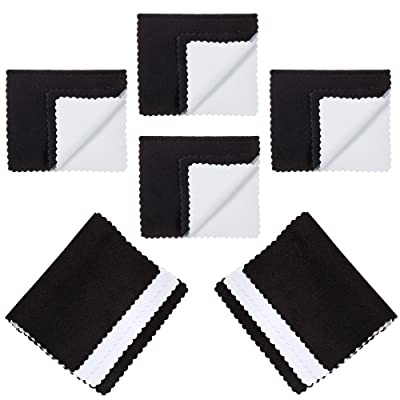 The Bling Factory Deluxe Microfiber Jewelry Cleaning & Polishing Cloth w/Dual Layers, 4 inch x 6 inch - 6 Pack: Jewelry
