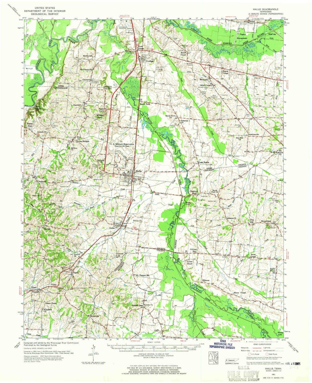 Amazon Com Yellowmaps Halls Tn Topo Map 1 62500 Scale 15 X 15