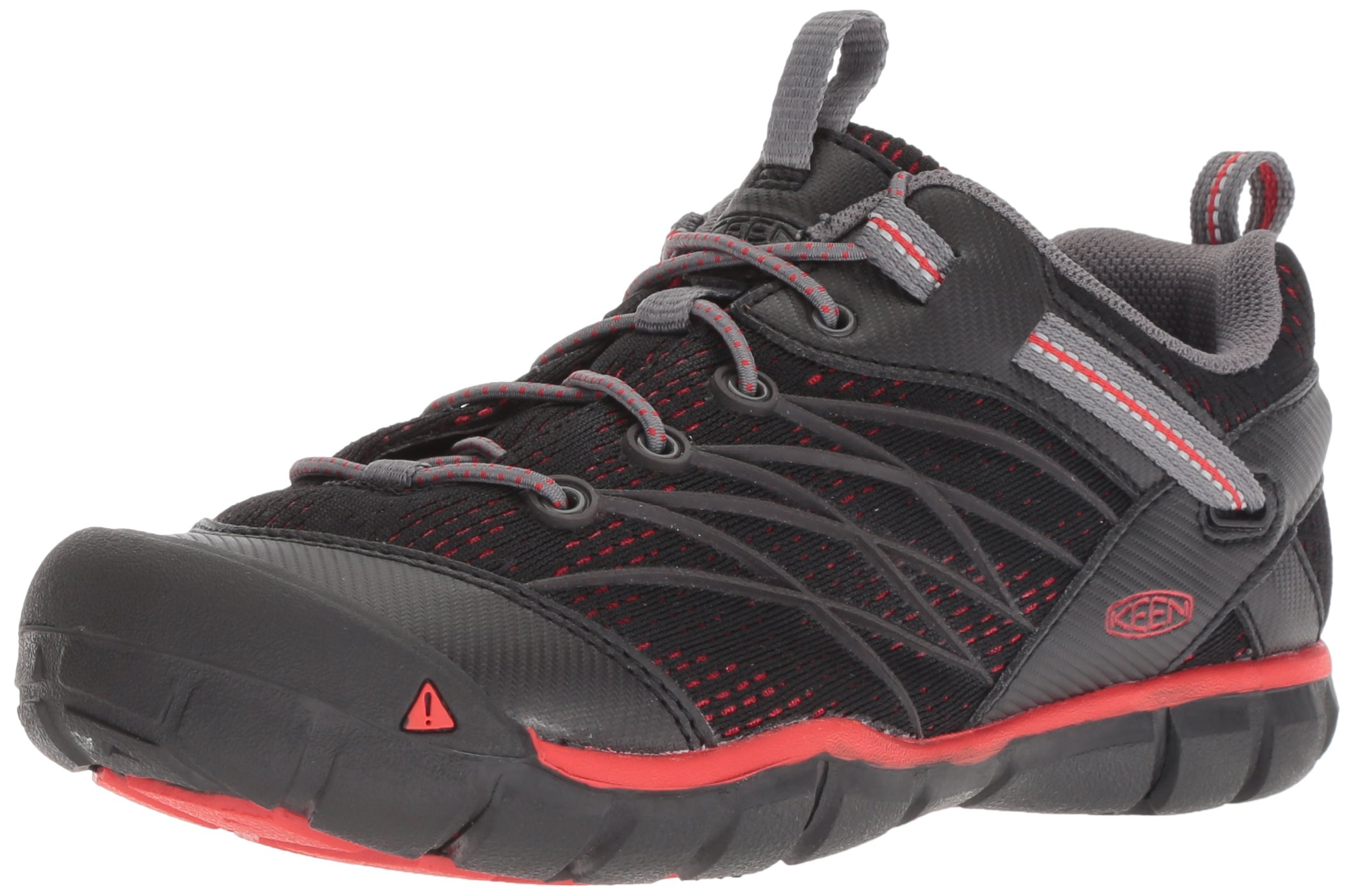 fd425359 Galleon - Keen Unisex Chandler CNX Hiking Shoe, Raven/Fiery Red, 12 ...