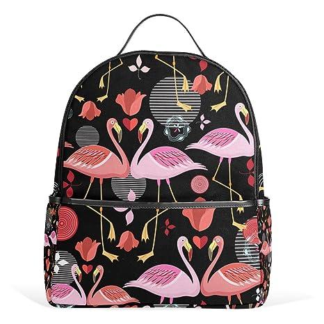 deyya Tropical rosa flamencos niños mochilas escolares para niños niñas bookbags de los niños regalo