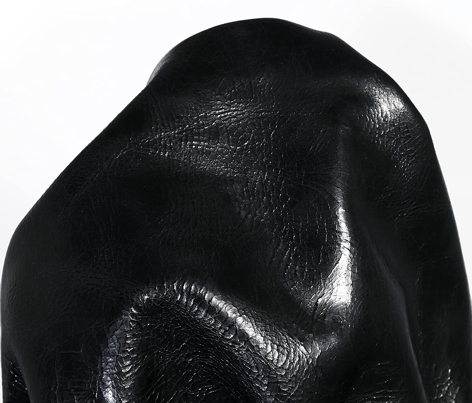NAT Leather Black 18-22 Square Feet Soft Upholstery Motorcycle Glazed Cowhide Genuine Cow Leather Skin Hide Also for Chaps Tooling Crafting
