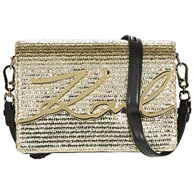add7c26b49d4 Karl Lagerfeld Women s Cross-Body Bag Yellow Gold Gold Size  One Size fits  All  Amazon.co.uk  Shoes   Bags