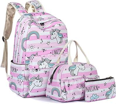 Amazon Com Leaper Water Resistant Unicorn Backpack Girls School