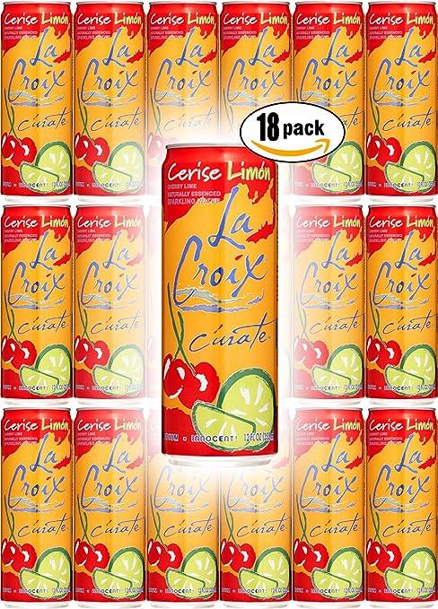 amazon com la croix cerise limon cherry lime flavored naturally rh amazon com