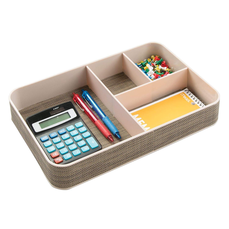 der ideale Schreibtisch Butler mDesign Schreibtisch Organizer mit 4 F/ächern praktische F/ächerbox