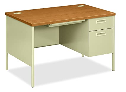 HON Metro Classic Small Office Desk   Right Pedestal Desk With File Drawer,  48u0026quot;