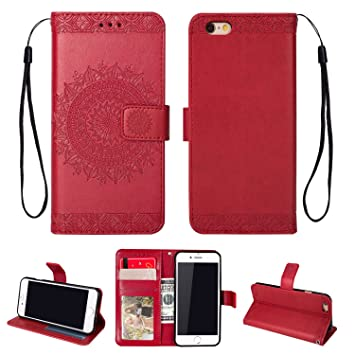 iphone 6 coque rouge cuir