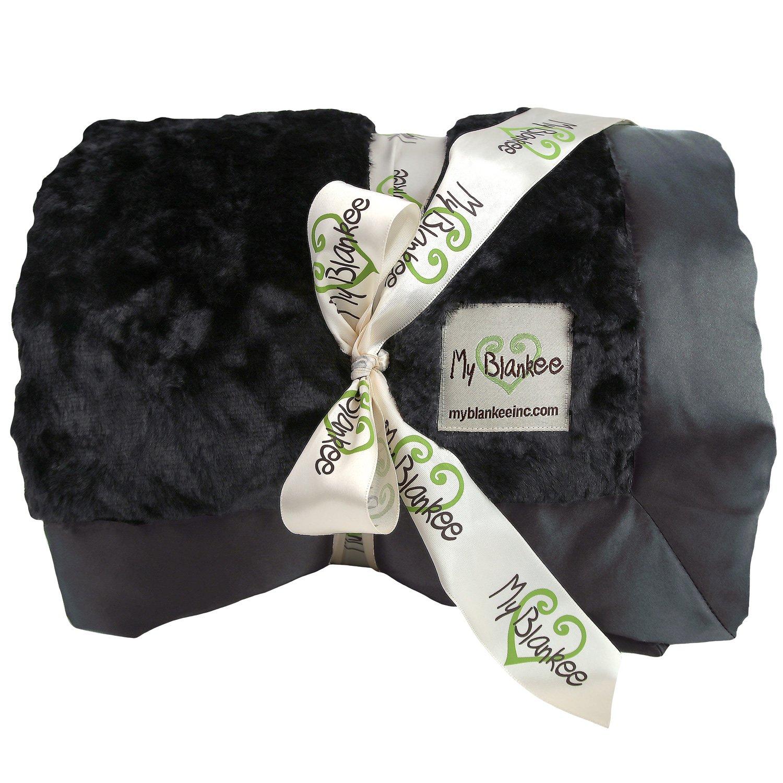 My Blankee Luxe Bella Throw Blanket, Black, 52'' X 60''