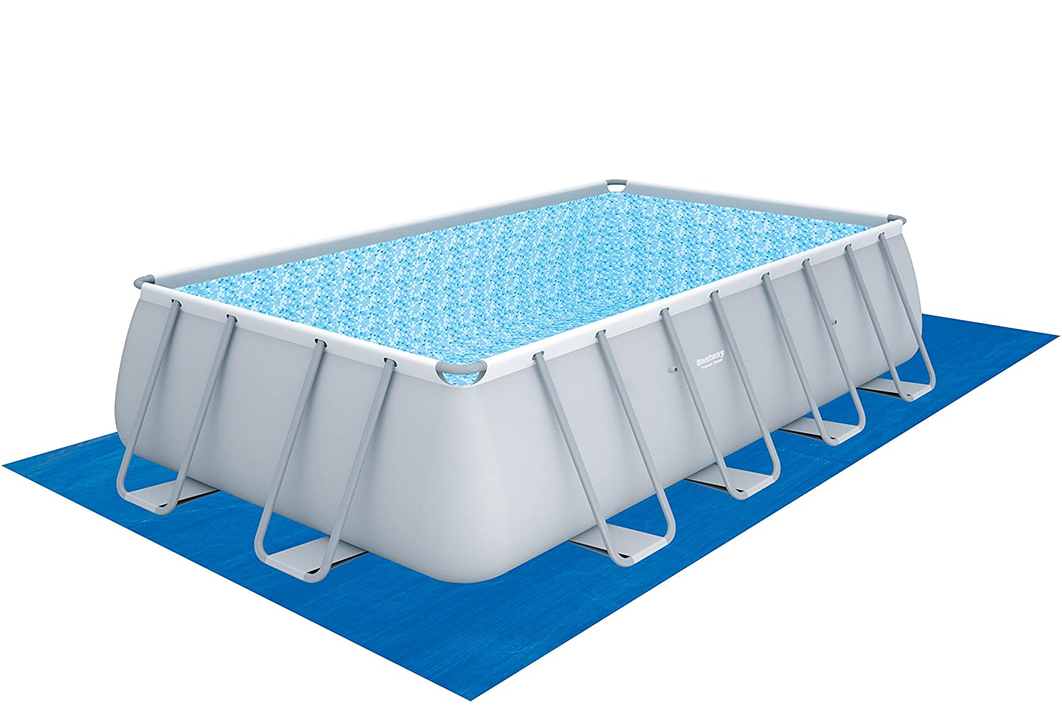 Bestway Power Steel 56390 - Piscina (Piscina con Anillo Hinchable, Rectangular, 13177 L, 110 cm, 3785 l/h, PVC): Amazon.es: Jardín