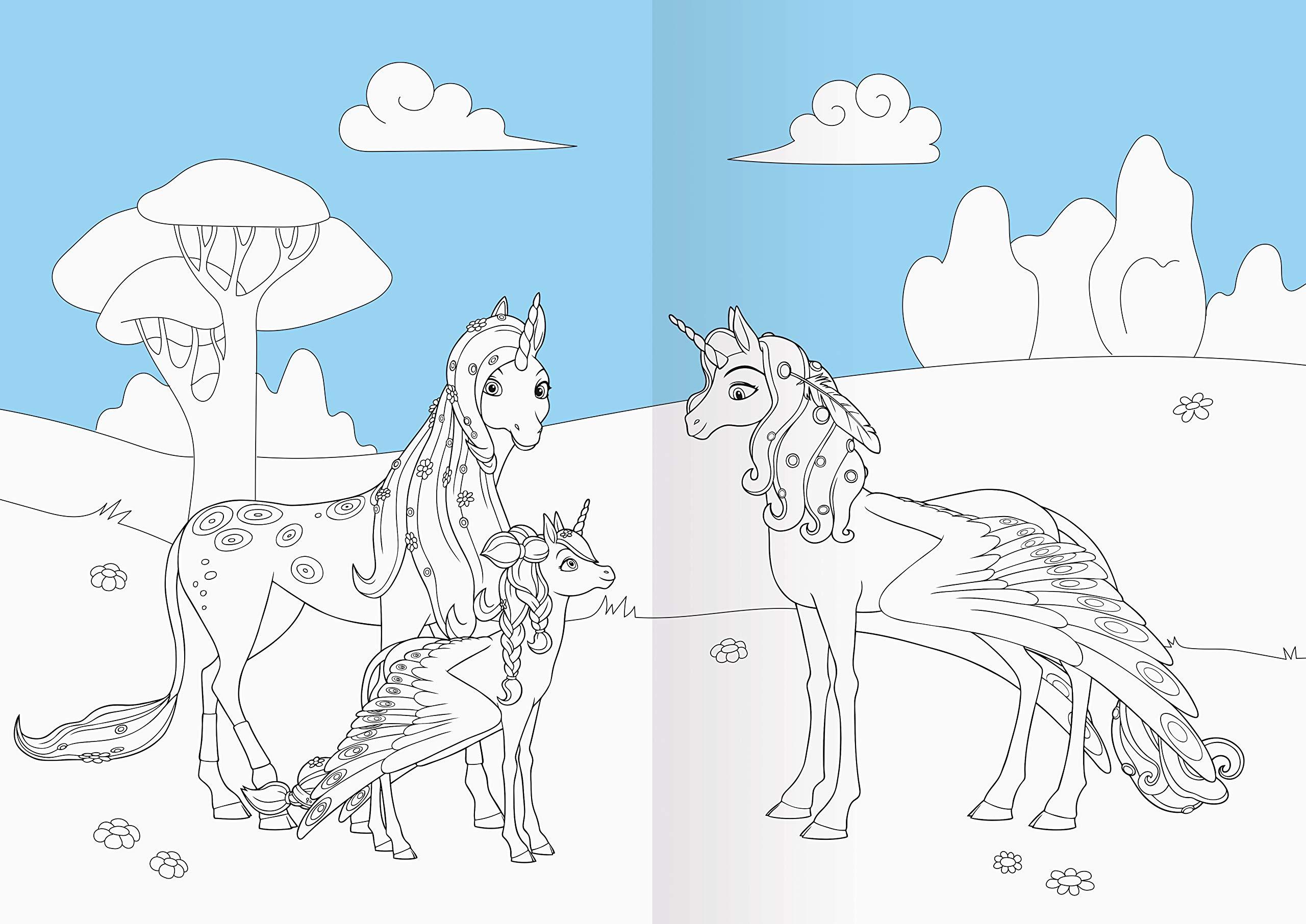 Mia And Me Mein Magisches Malbuch Amazon De Dreamworks Animation L L C Bucher